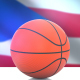 Basketball with Puerto Rico Flag - VideoHive Item for Sale