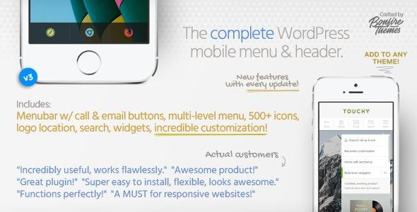 Touchy - WordPress Mobile Menu Plugin - CodeCanyon Item for Sale