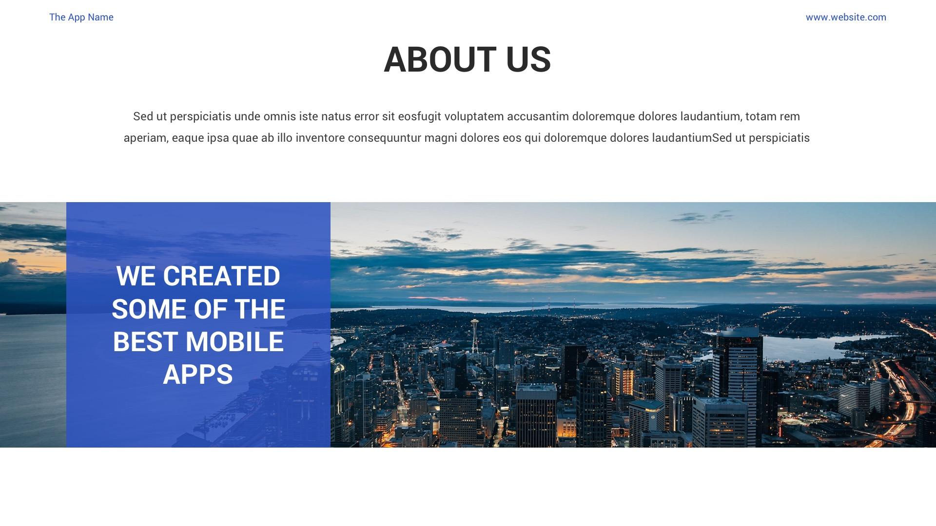 Mobile App Showcase PPT Pitch Deck