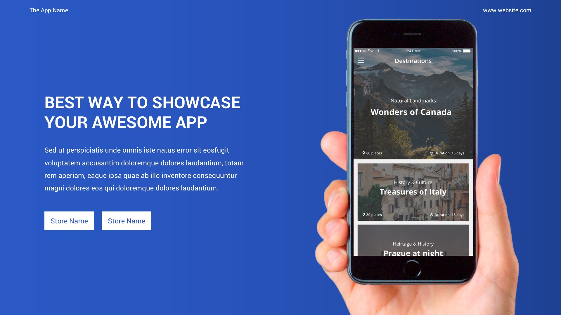 mobile app showcase ppt pitch deck by spriteit graphicriver