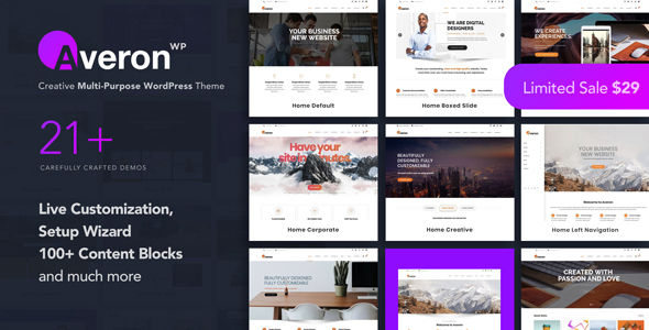 Averon - Business Multipurpose WordPress Theme - Business Corporate