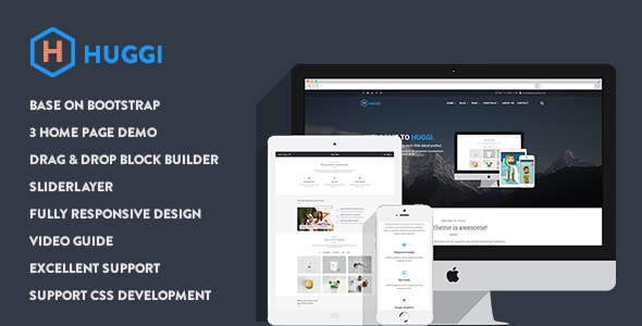 Huggi - Responsive Business Drupal 8.5 Theme - Business Corporate