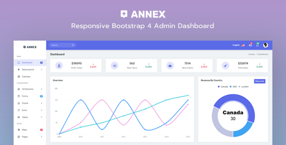 Image of Annex - Responsive Bootstrap 4 Admin + Crypto Dashboard