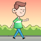 Cartoon Boy Walk Cycle - VideoHive Item for Sale