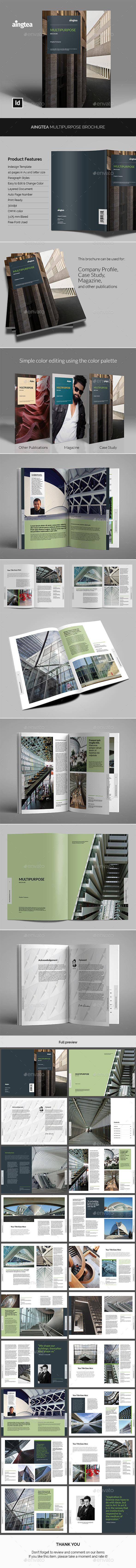 Aingtea Multipurpose Brochure - Informational Brochures