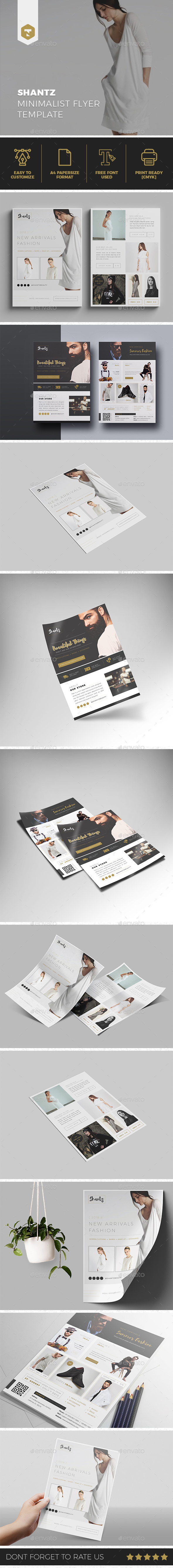 Shantz  | Minimalist Fashion Flyer - Flyers Print Templates