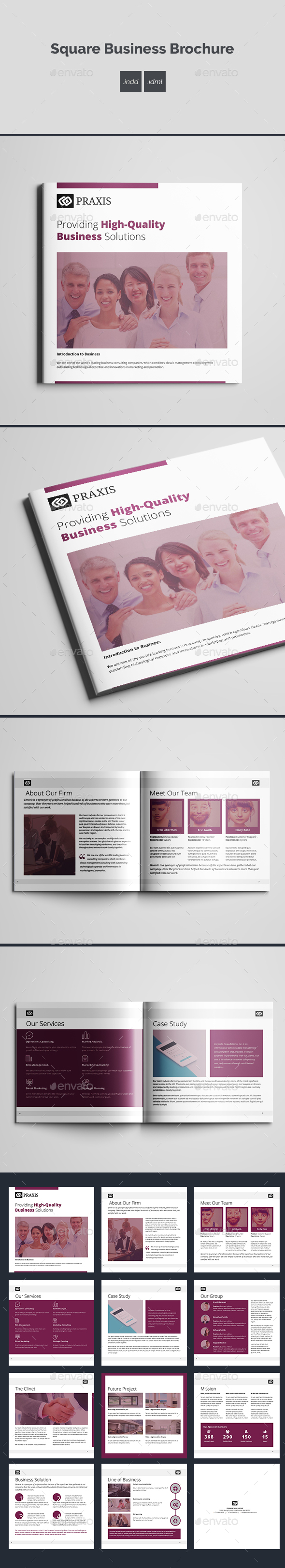 Square Business Brochure - Corporate Brochures