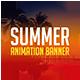 Summer Animation Banner - GraphicRiver Item for Sale