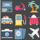 100 Travel Color Vector Icons Set