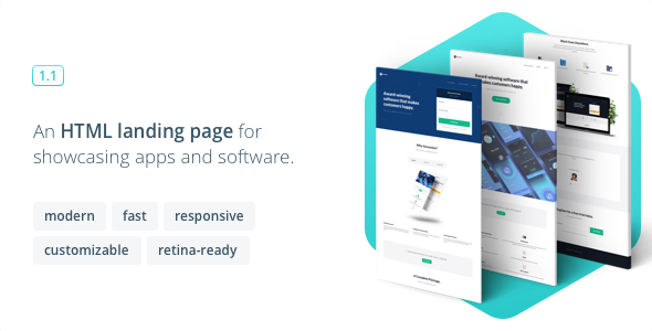 Image of Ascension - Responsive Landing Page for Apps and Software