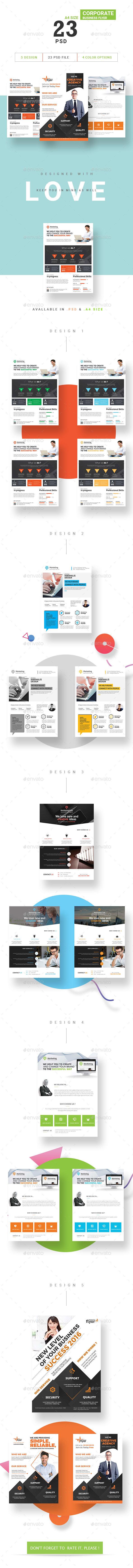 Corporate Business Flyer Bundle - Flyers Print Templates