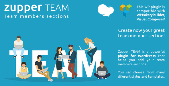 Zupper TEAM plugin - team members sections for your wordpress themes - WPBakery compatible - CodeCanyon Item for Sale