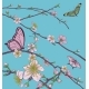 Cherry Peach Blossom Tree Flowers and Butterflies - GraphicRiver Item for Sale