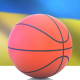 Basketball with Ukraine Flag - VideoHive Item for Sale