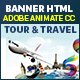 Travel Around the World Banner Ad HTML5 (Animate CC)