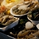 Asian Seafood, Shrimps, Crawfish, Crabs on the Counter in Night Street Market - VideoHive Item for Sale