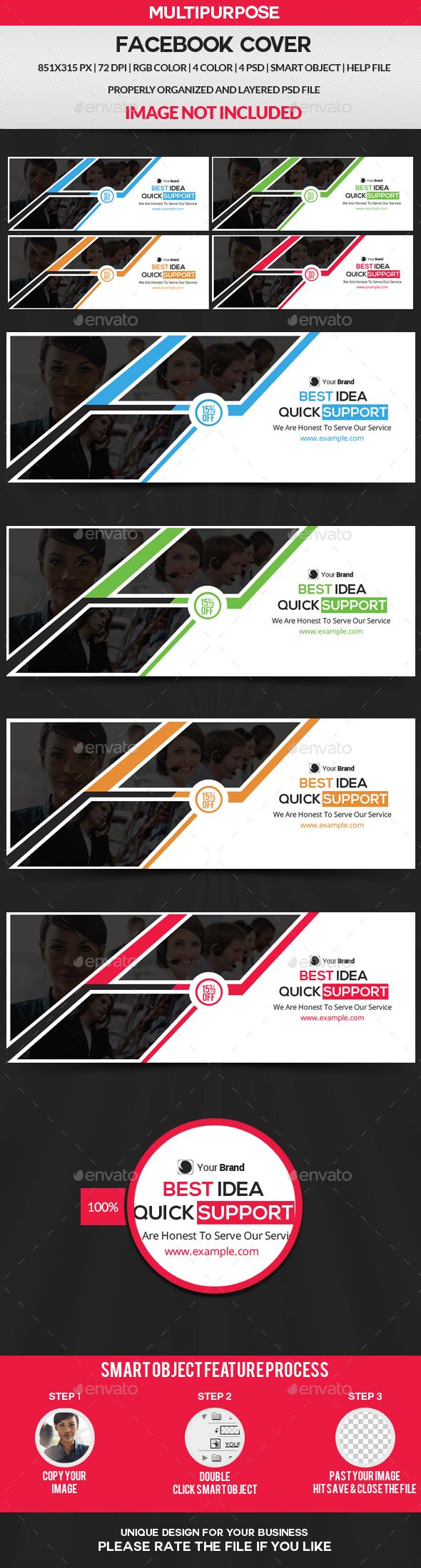 Facebook Cover - 4 Color - Facebook Timeline Covers Social Media
