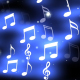 Neon White Music Notes - VideoHive Item for Sale