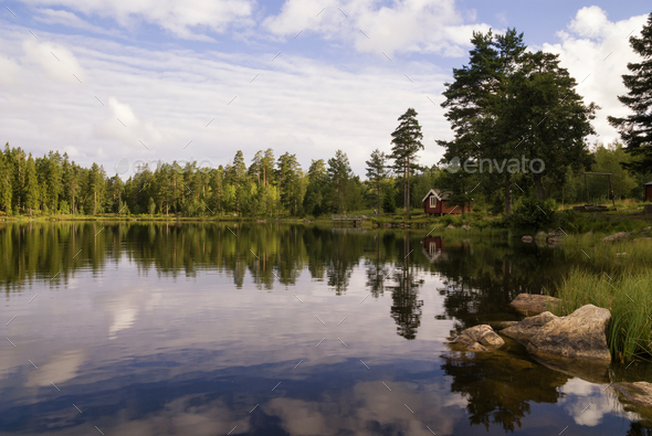 Lake near Annaboda - Stock Photo - Images