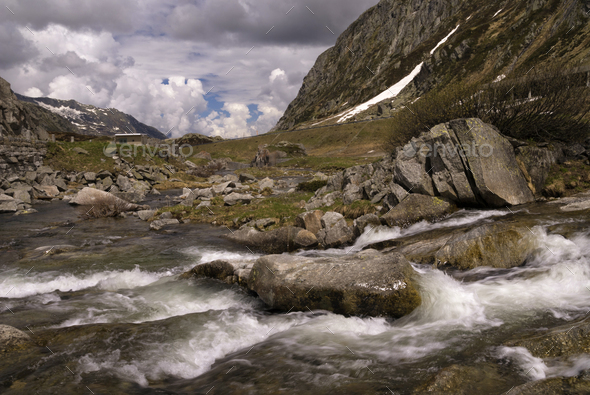 The Gotthard Pass - Stock Photo - Images