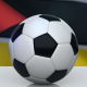 Soccer Ball with Mozambique Flag