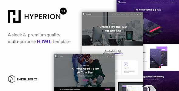 Hyperion - Premium Multipurpose HTML Template - Site Templates