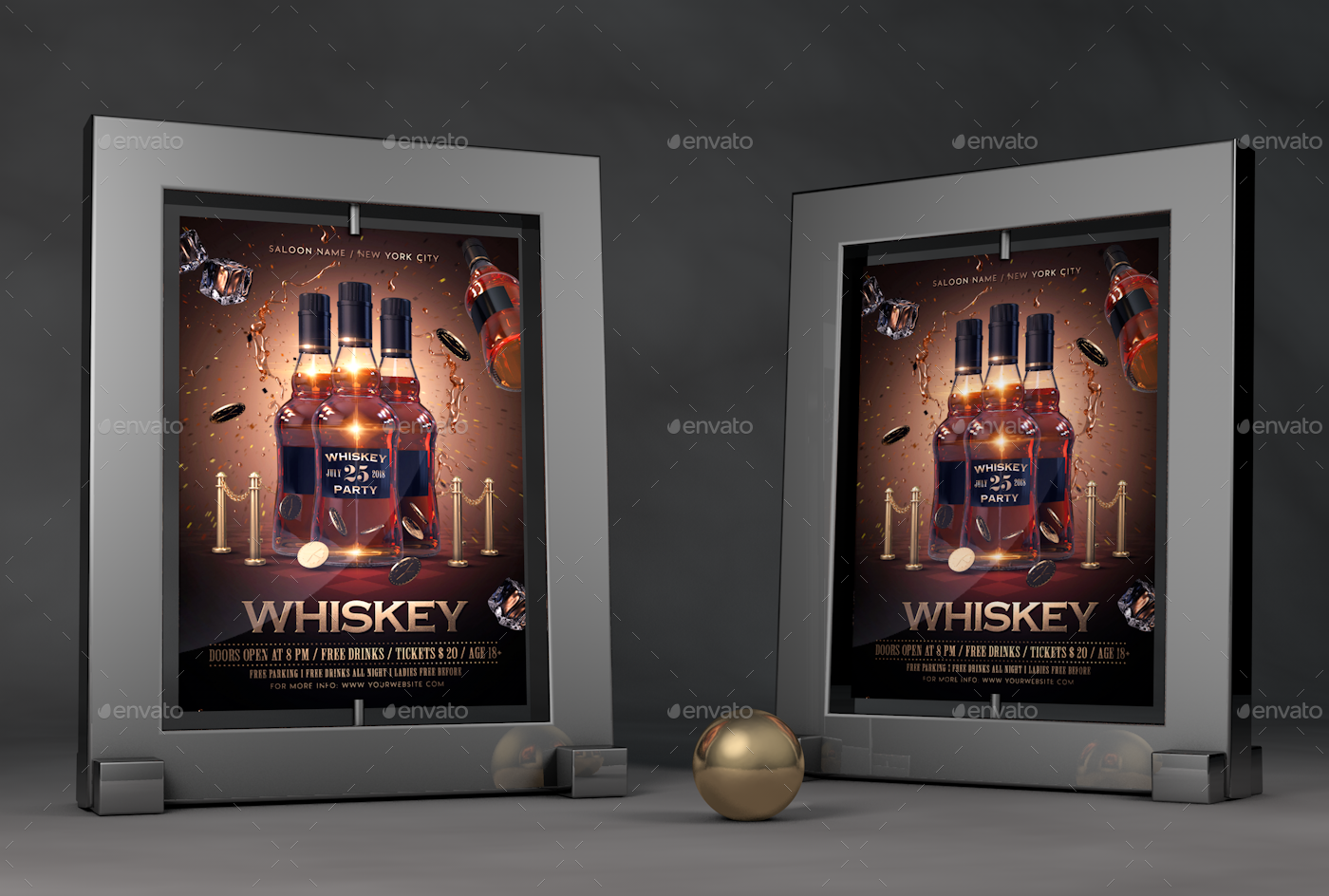 whiskey party flyer by rembassio graphicriver