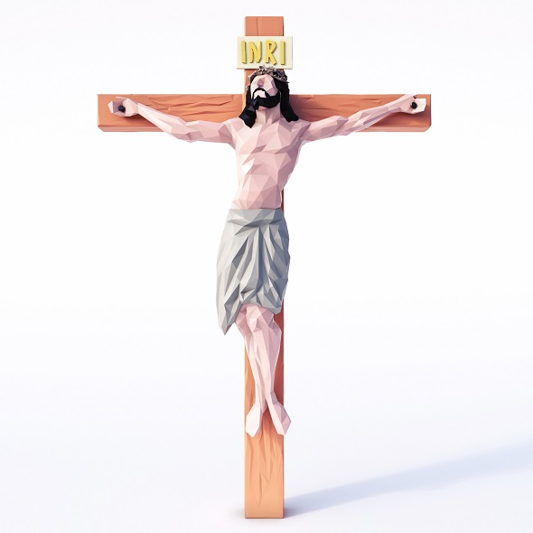 Jesus Low Poly - 3DOcean Item for Sale