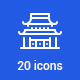 20 Landmarks icons - GraphicRiver Item for Sale