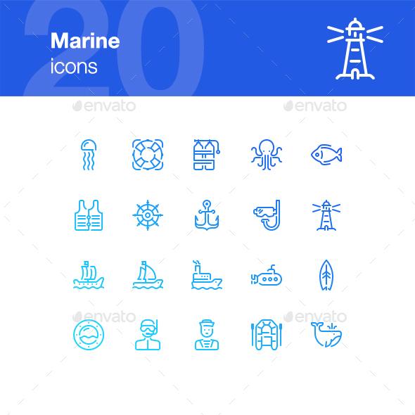 20 Marine icons - Miscellaneous Icons