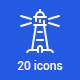 20 Marine icons - GraphicRiver Item for Sale