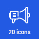 20 Marketing icons - GraphicRiver Item for Sale