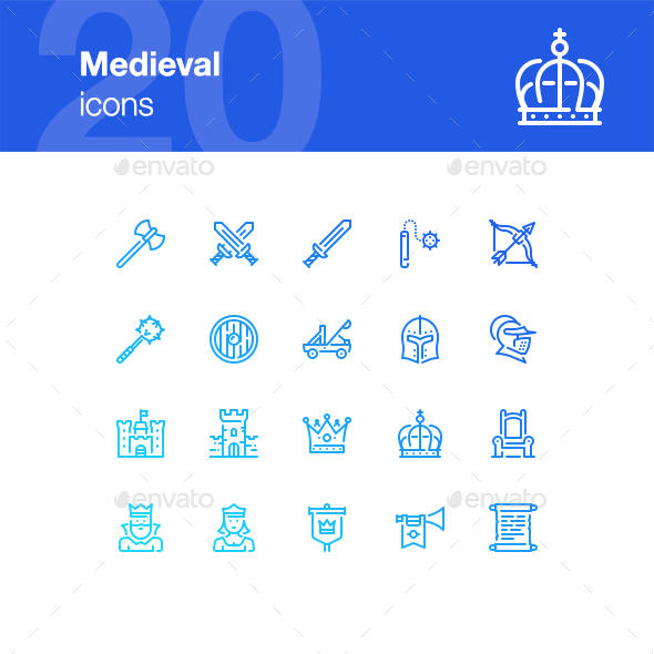 20 Medieval Icons - Miscellaneous Icons