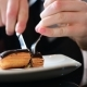 Teen Eating Eclair with Knife and Fork - VideoHive Item for Sale