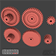 Gears 3D Models - 3DOcean Item for Sale