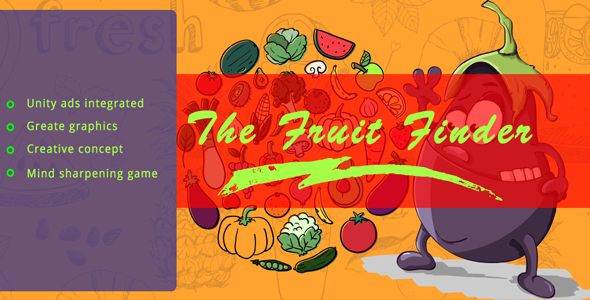 The Fruit Finder Unity 3D Game with Unity Ads Integrated - CodeCanyon Item for Sale