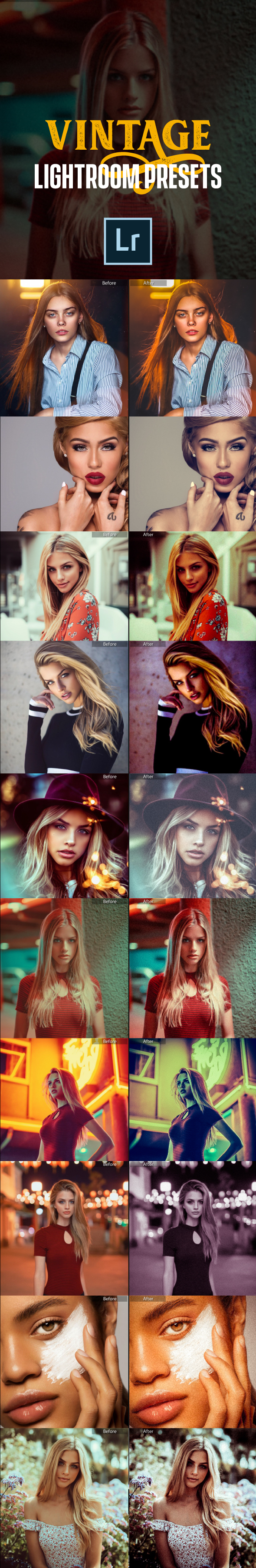 16 Vintage Lightroom Presets - Vintage Lightroom Presets