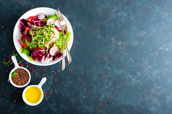 Fresh vegetable salad plate - Stock Photo - Images