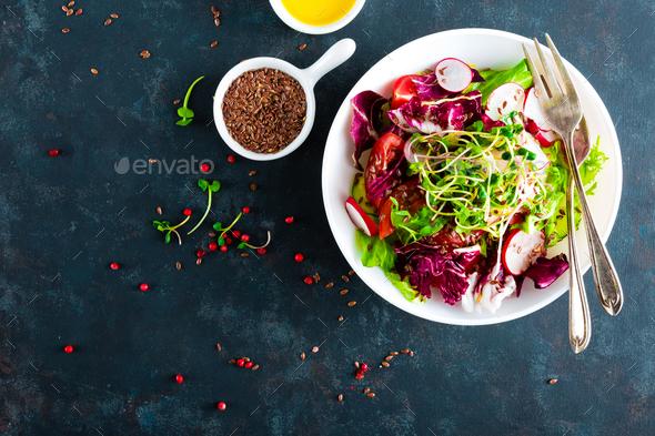 Fresh vegetable salad - Stock Photo - Images