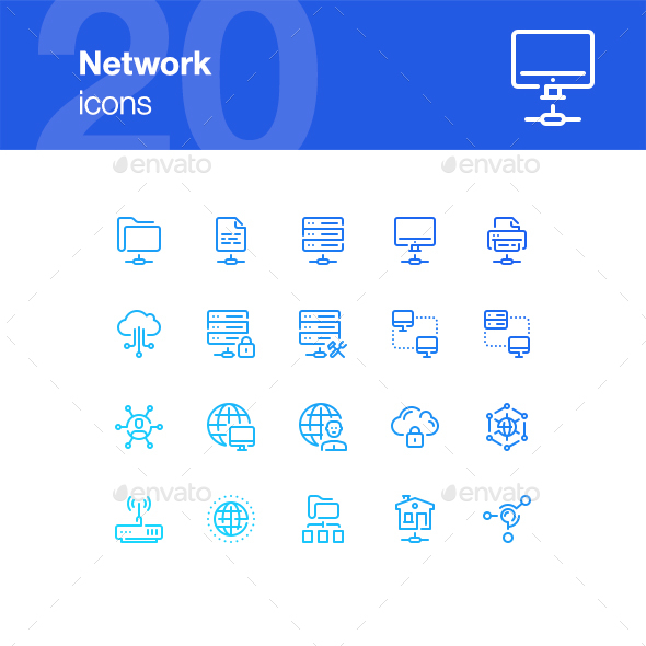 20 Network icons - Technology Icons