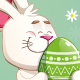 Easter Bunny Carrying a Green Egg - GraphicRiver Item for Sale