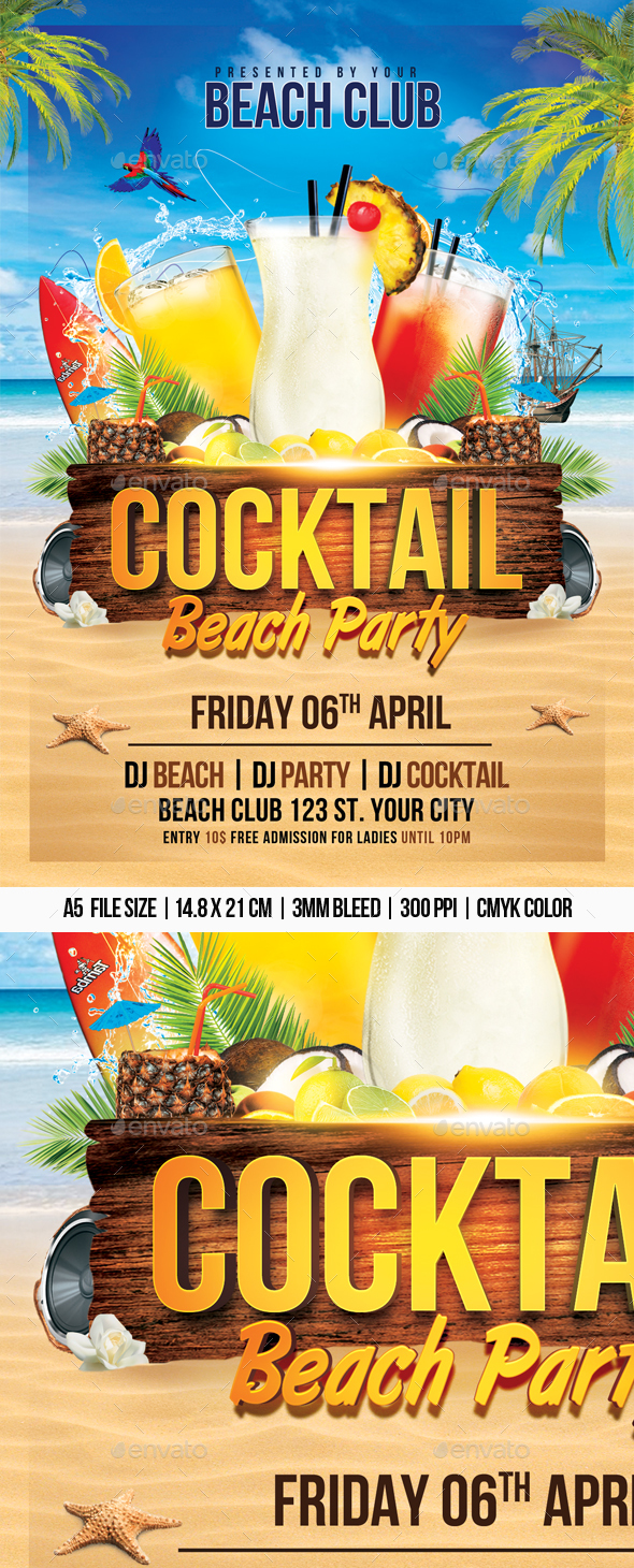 Cocktail Beach Party - Clubs & Parties Events