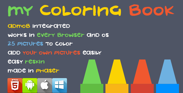 My Coloring Book - HTML5 Game - Phaser - CodeCanyon Item for Sale