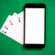 Playing casino games and poker on mobile phone - PhotoDune Item for Sale