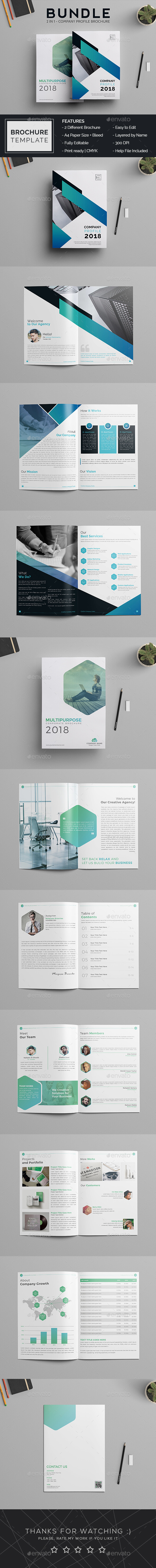 Company Profiles - Brochures Print Templates