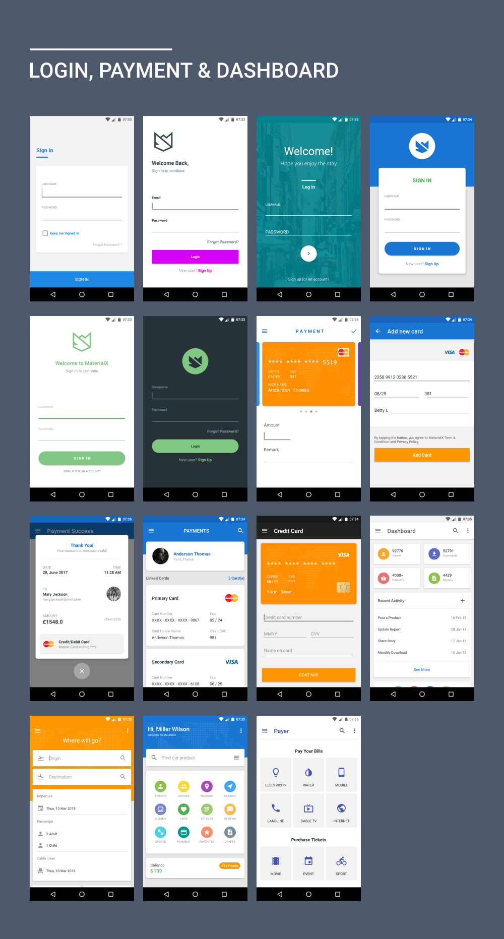 MaterialX - Android Material Design UI Components 2 0 - خرید آیتم