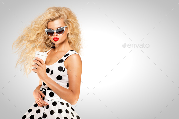 Pinup and coffee. - Stock Photo - Images