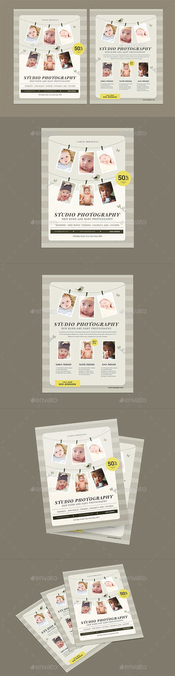 Newborn Photographer Flyer - Flyers Print Templates