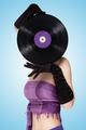 Behind purple vinyl. - PhotoDune Item for Sale