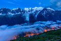 Chamonix valley in the evening. France - PhotoDune Item for Sale